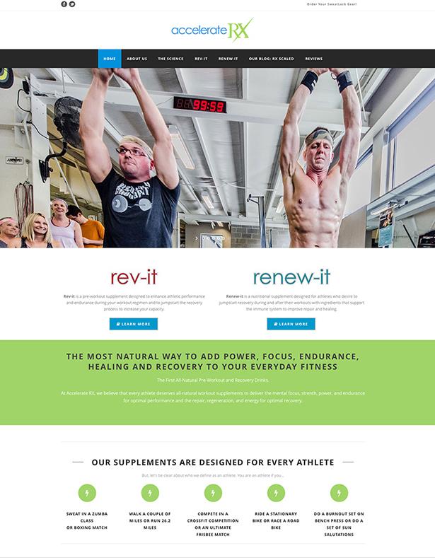 Kevin Cates Design Accelerate Rx Website