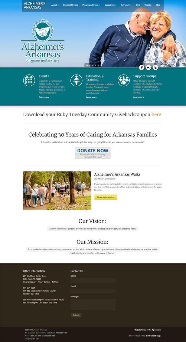 Kevin Cates Design Alzheimer S Arkansas Website